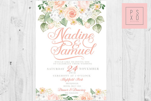 Nadine - Beautiful Peach Floral