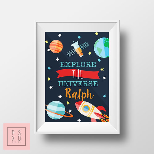 Personalised Explore The Universe Print