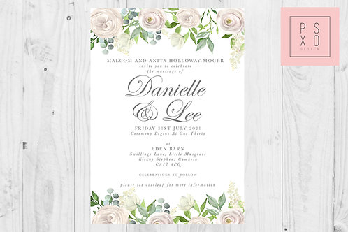 Danielle White Floral