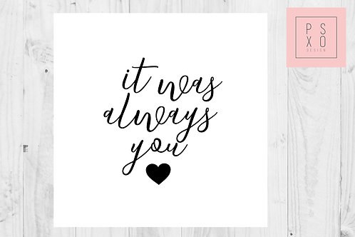 It Was Always You - To My Groom - Wedding Day Card