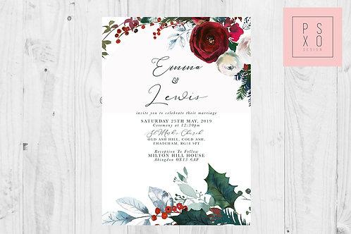 Emma Lewis Christmas Bouquet Chelsea