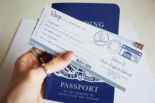 Santorini Passport Invites