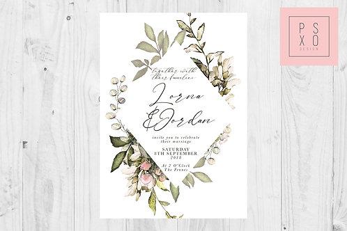 Wild Foliage Diamond Wedding Invite