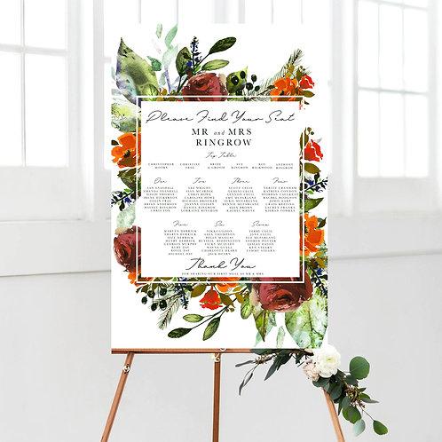 Chara Autumnal Wedding Table Plan