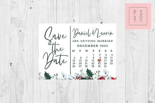 Save The Date Magnet // Christmas Calendar