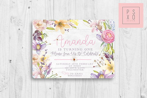 Beautiful Spring Floral Invite