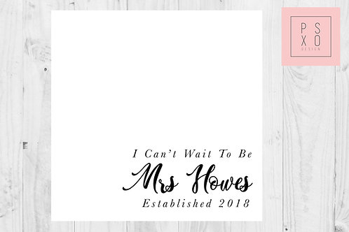 I Can't Wait To Be Mrs... To My Groom - Wedding Day Card