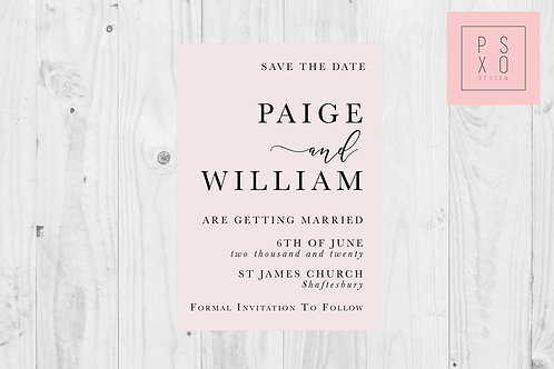 Paige Calligraphy & Serif Simple Design // ANY COLOUR