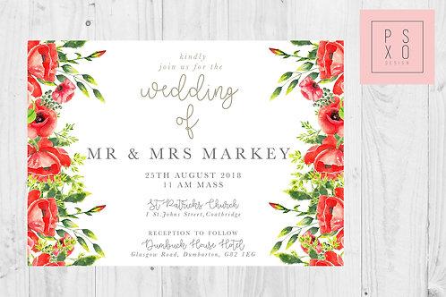 Monika Poppy Wedding Invite