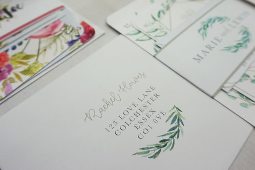 Marie - Addressed Envelopes