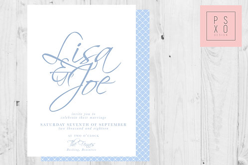 Classy Script Simple Wedding Invite