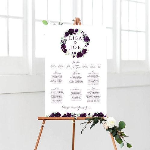 Lisa Wreath / Purple Table Plan