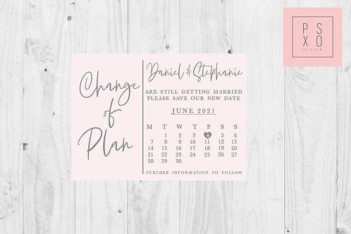 Change Of Plan Calendar Design // ANY COLOUR