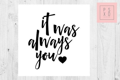 It Was Always You - To My Groom - Wedding Day Card