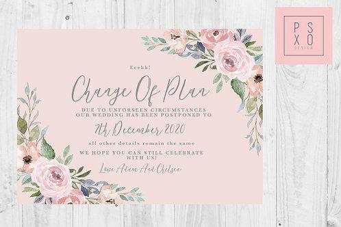 Chelsea Rose Gold / Postponed Wedding / Change Of Plan /  Digital