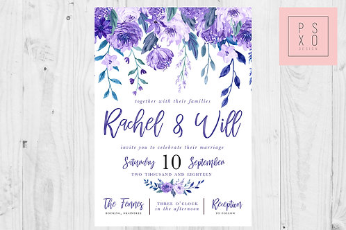 Roses Are Red, Violets Are...Floral Wedding Invites