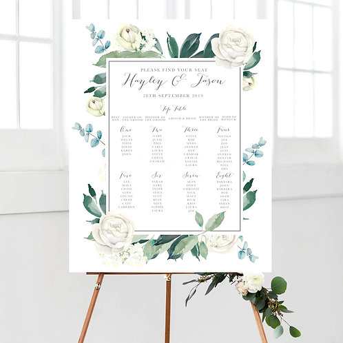 Hayley Botanical Table Plan