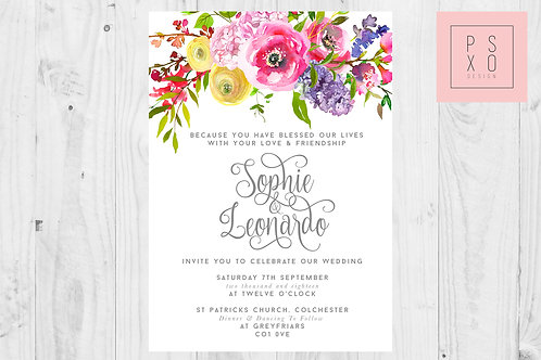 """Sweet May"" Wild Flower Bright Floral Wedding Set"