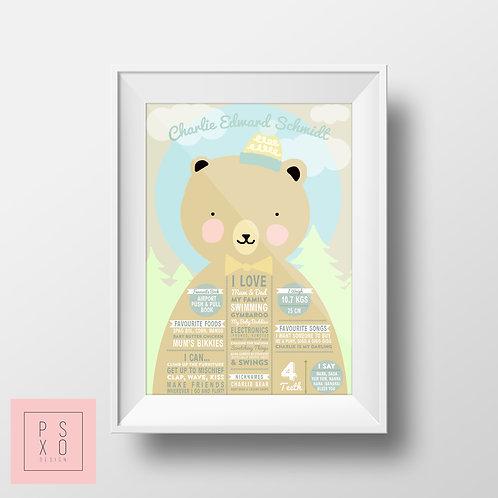 Teddy Bears Picnic Themed Chalkboard Print
