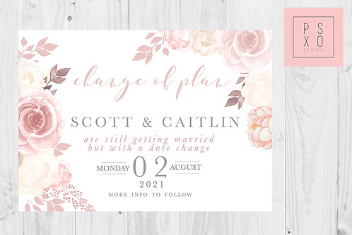 Caitlin Chelsea / Postponed Wedding / Change Of Plan /  Digital
