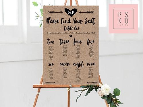 Shelley - Rustic Kraft Looking Table Plan