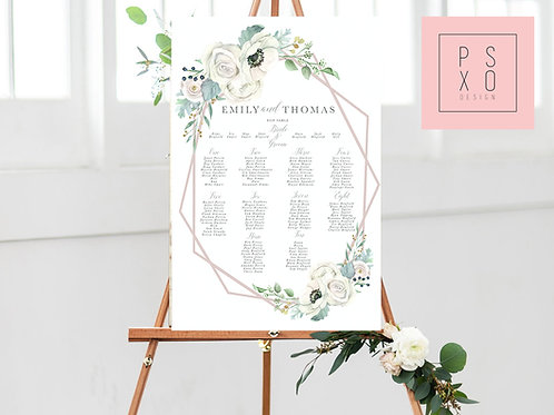 Emily Marie / Geometric Table Plan
