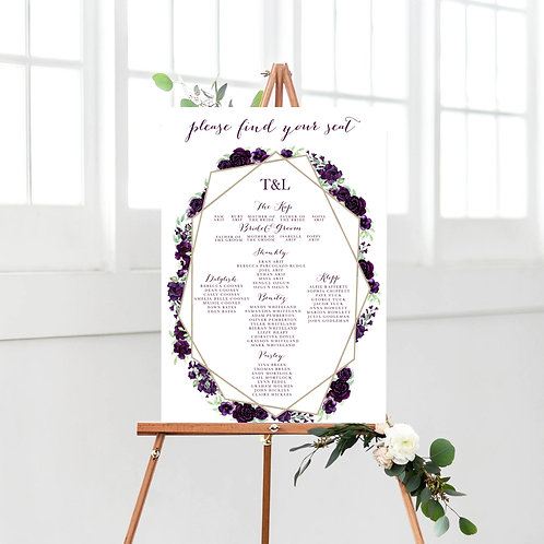 Marie / Purple Floral Table Plan