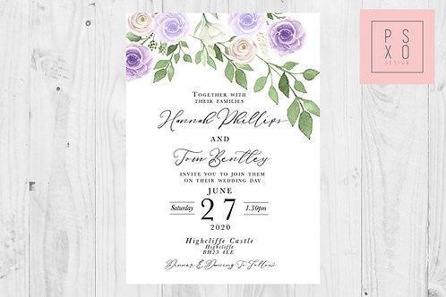 Emma Zoe Lilac Edition Wedding Invite