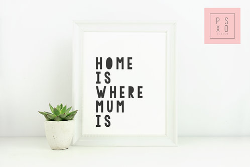 Home Is Where Mama Is- Mothers Day Print