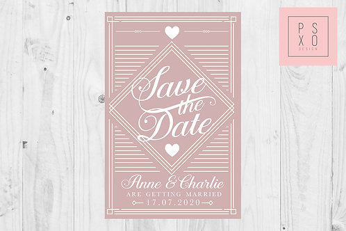 Art Deco Themed Save The Dates