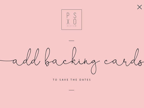 Add Backing Cards To Save The Date Magnets