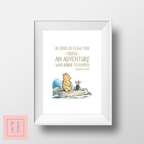 Adventure Winnie The Pooh Print