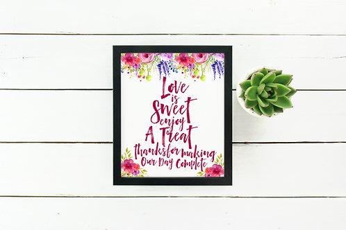 Lauren - Love Is Sweet Sign