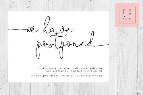 Simple Oh Darling / Postponed Wedding / Change Of Plan /  Digital