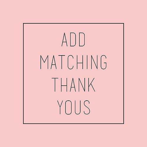 Matching Thank You Postcards