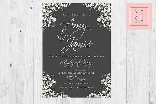 Amy Charcol & Ivory Florelli Wedding Invites