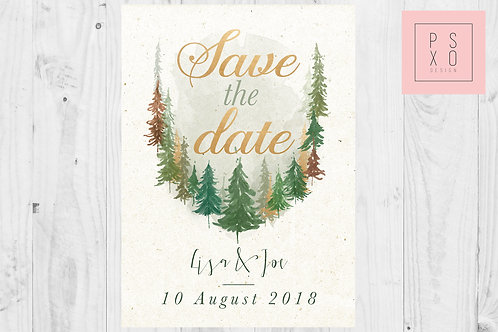 Forest Themed Save The Date Magnets