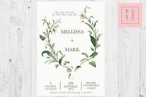 Beautiful Foliage Botanical Themed Wedding Invites