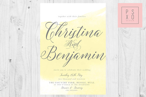 Christina - Watercolour Scripture Invite