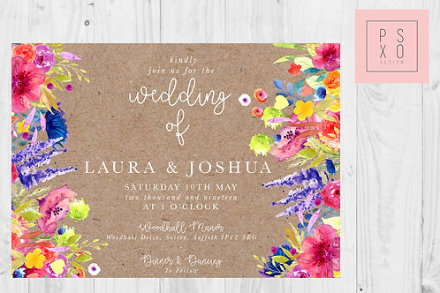 Jamie Bright Floral Rustic Wedding Invites