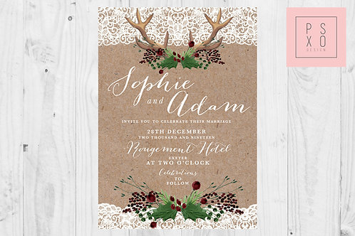 Rustic Christmas With Lace