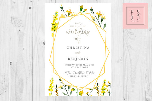 Christina - Wild Flower Geometric Wedding Set