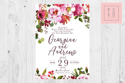 Secret Garden Wedding Invite Set