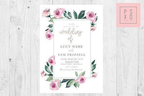 Amnesia Rose Foliage & Greenery Rectangle Wedding Set