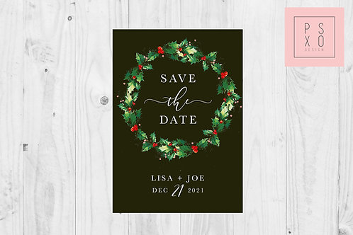 Save The Date Magnet // Bows Of Holly