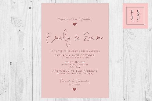 Alanah 'Oh Darling' Wedding Invite
