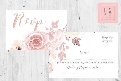 """Chelsea"" Wedding Invite RSVP"