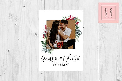 Save The Date Magnet // Christmas Polaroid