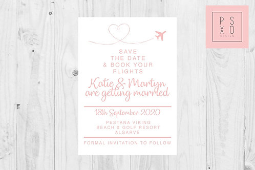 Destination Wedding Heart Aeroplane // ANY COLOUR