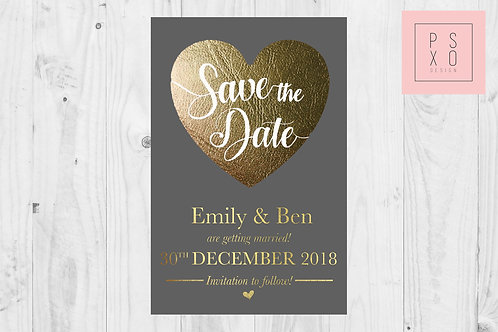 Beautiful Gold Faux Foil Save The Date Magnets
